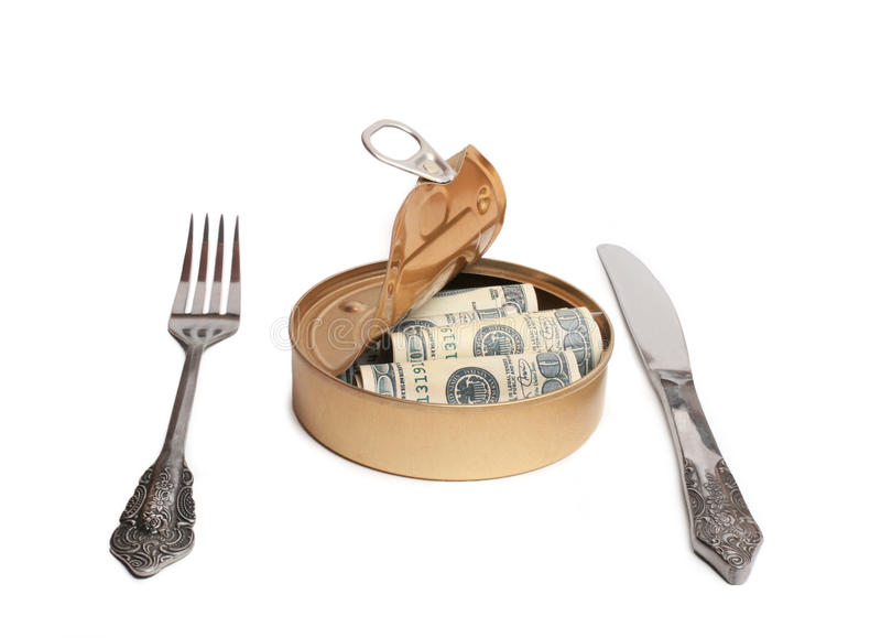 Download Dollars In  Can Royalty Free Stock Image - Image: 14102296