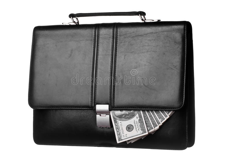 Dollars in case royalty free stock image