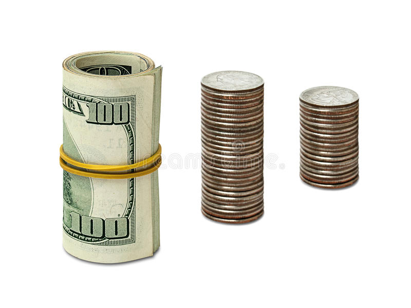 Dollars and cents stock photos