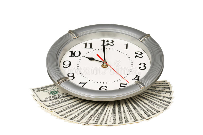 Download Dollars and clock stock image. Image of commerce, heap - 26827883