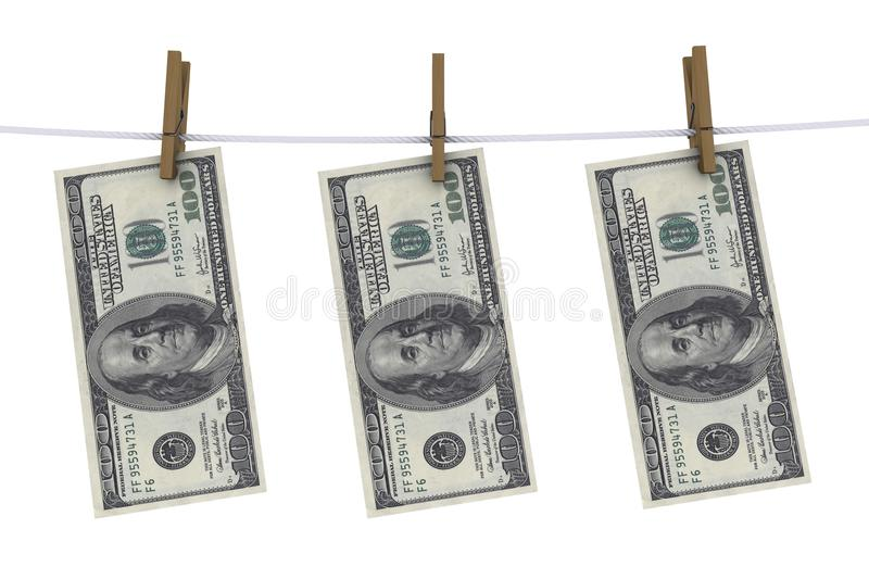 Download Dollars on the clothespin stock illustration. Image of money - 17629286