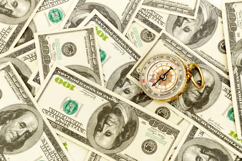 Download Dollars and compass. stock image. Image of currency, concepts - 17775957