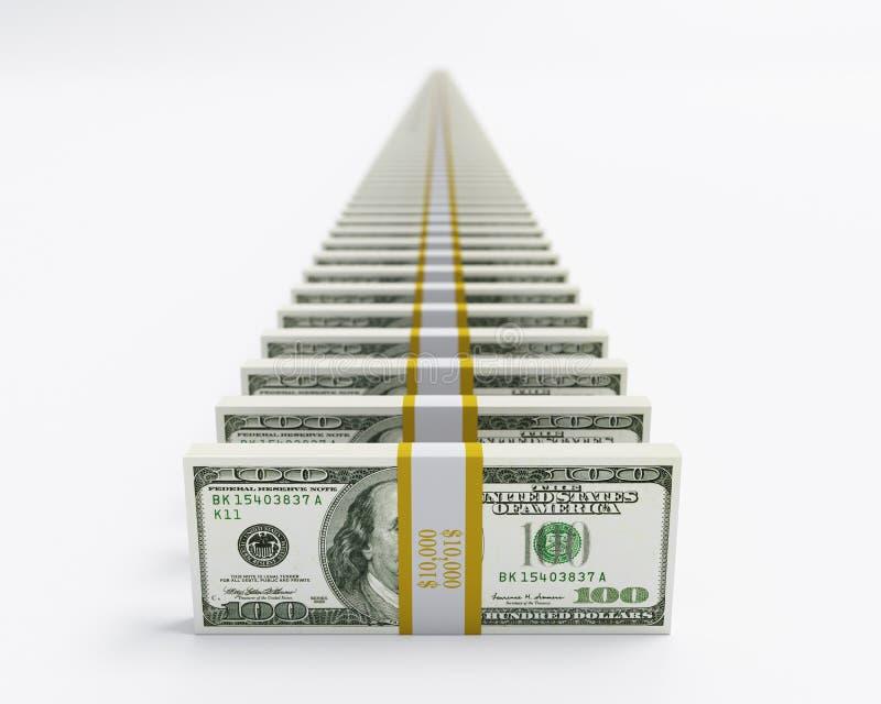 Dollars d'alignement illustration de vecteur