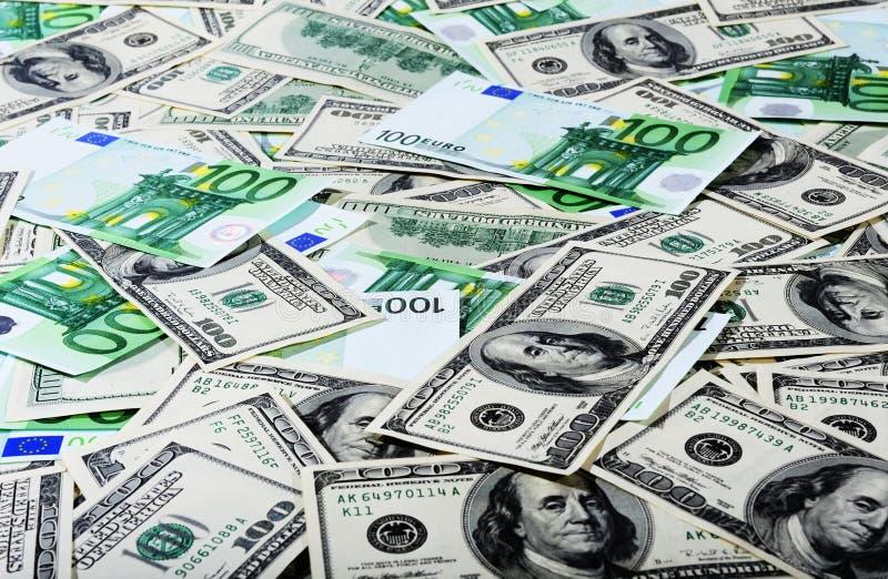 dollars d'euro photos stock