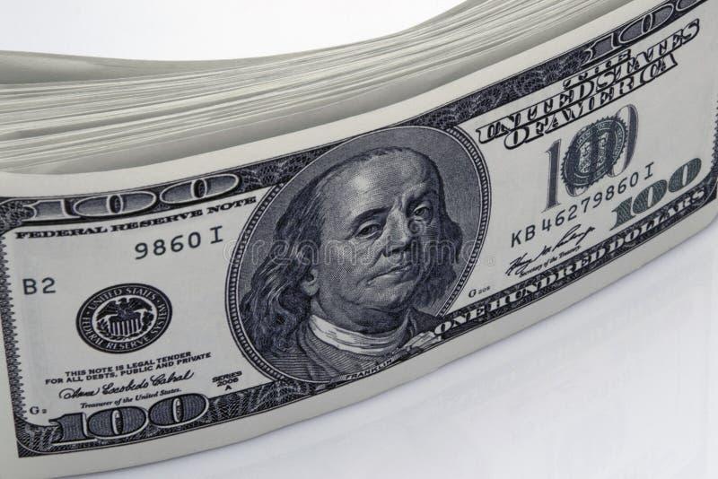 Dollars de concept de plan rapproché Dollars américains d'argent d'argent liquide Cents billets de banque du dollar photographie stock