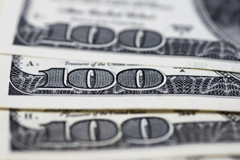 Dollars de concept de plan rapproché Dollars américains d'argent d'argent liquide Cents billets de banque du dollar photo libre de droits