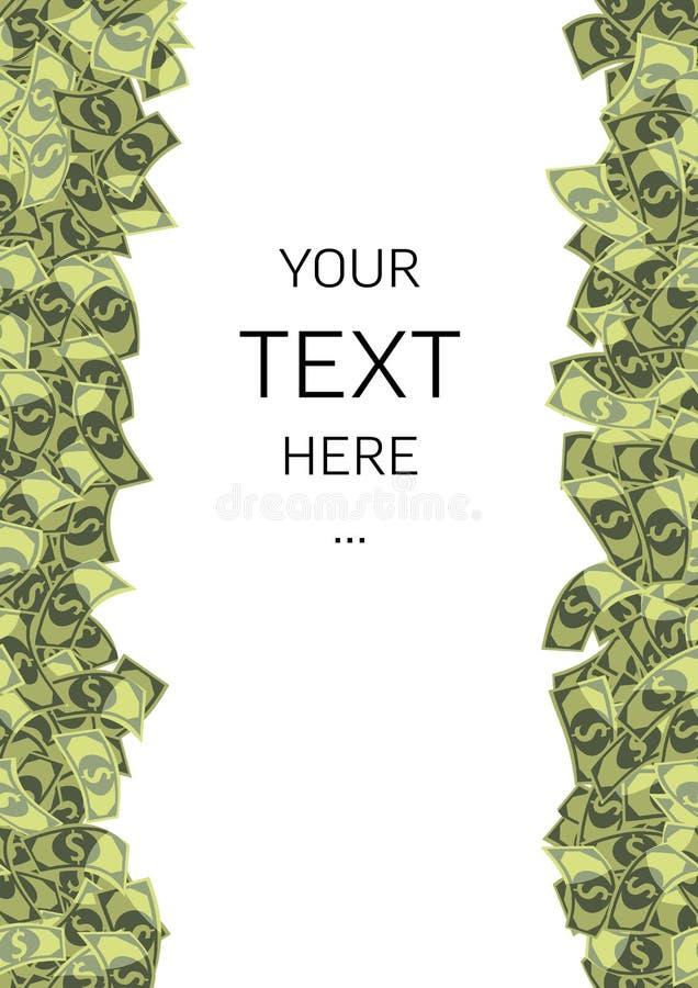 Dollars de fond avec le texte témoin image libre de droits