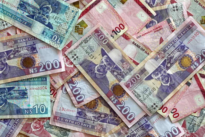 Dollars de la Namibie image stock