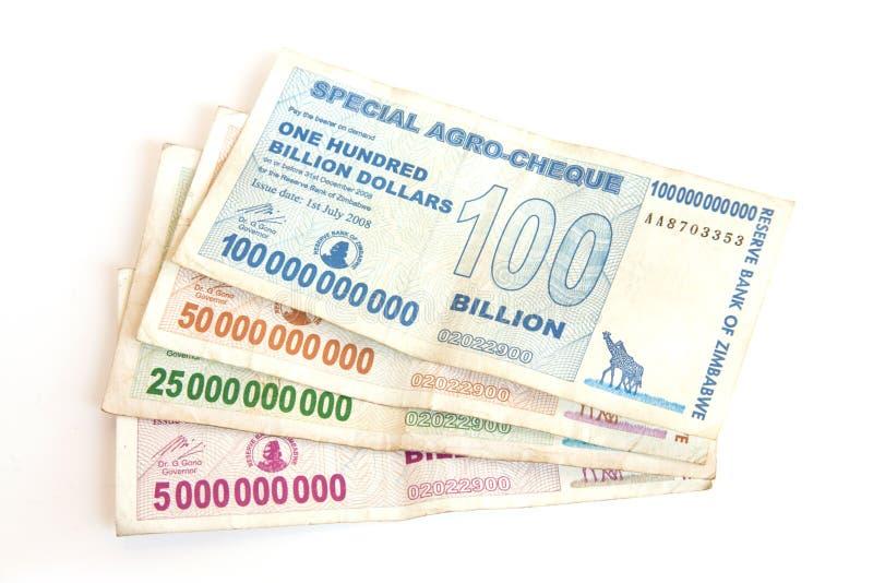 dollars de milliards zimbabwéens image stock