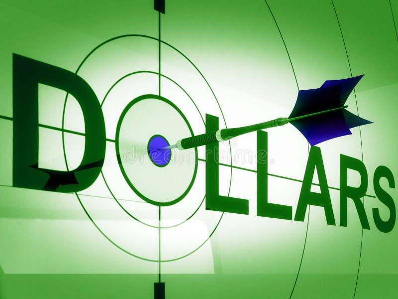 Dollars de moyens de mâles de revenu en espèces ou prospérité illustration stock