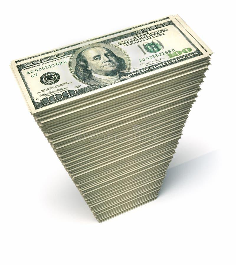 Dollars de pile illustration libre de droits