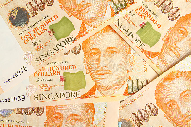 Dollars de Singapour images libres de droits