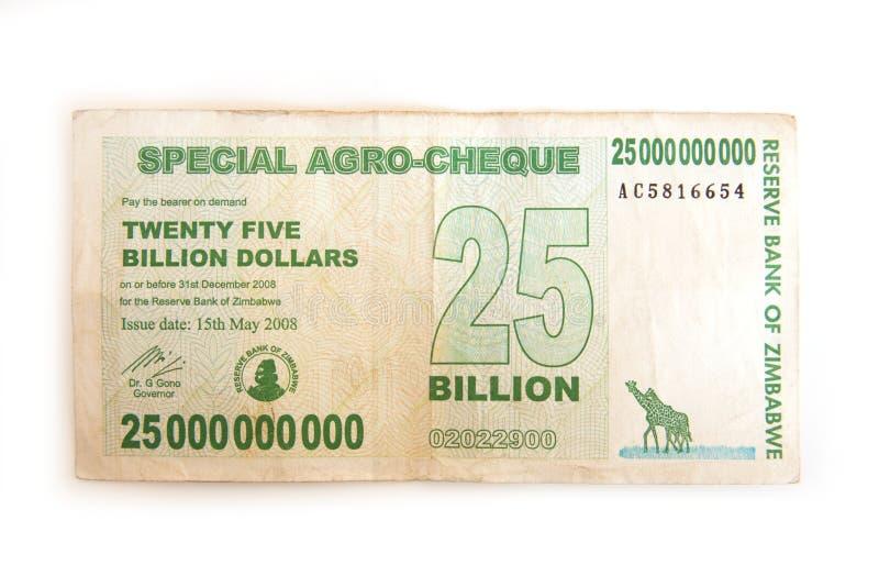 dollars de Zimbabwe photo stock