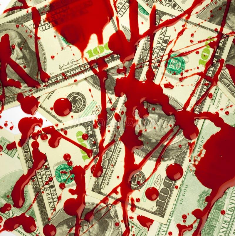 Dollars en bloed royalty-vrije stock foto's