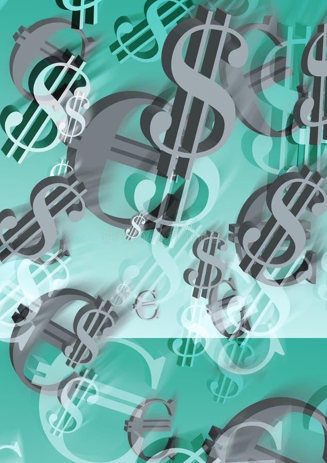 Dollars en evro vector illustratie