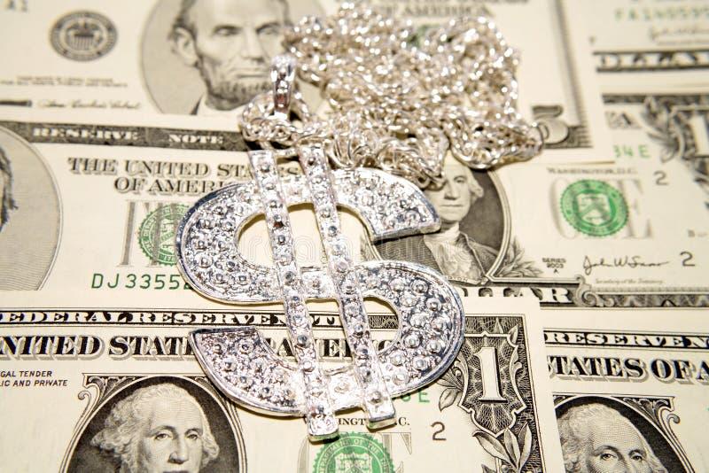 Dollars en halsband royalty-vrije stock foto