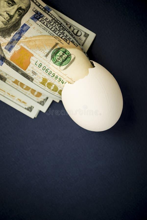 Dollars en peau d'oeufs - photo images libres de droits
