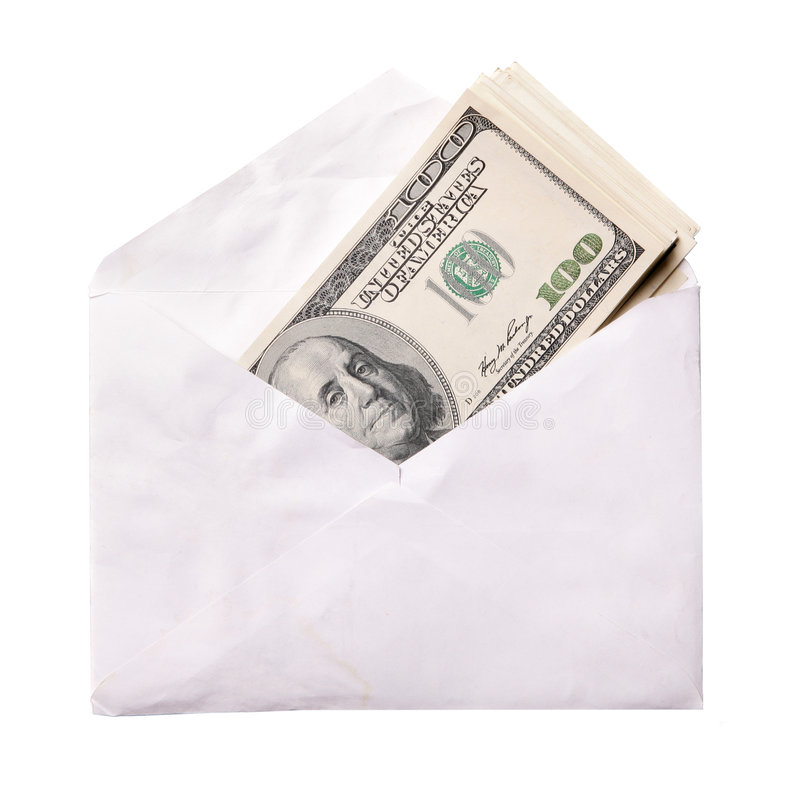 Download Dollars in envelope stock photo. Image of bribe, envelope - 7939512