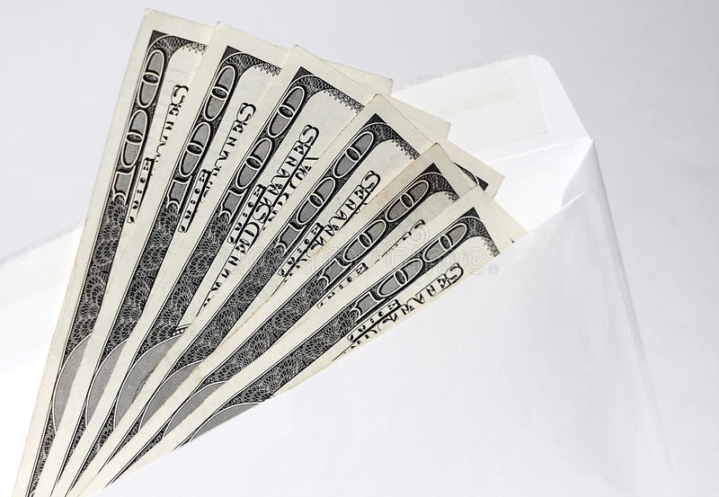 Dollars in an envelope 3 royalty free stock image