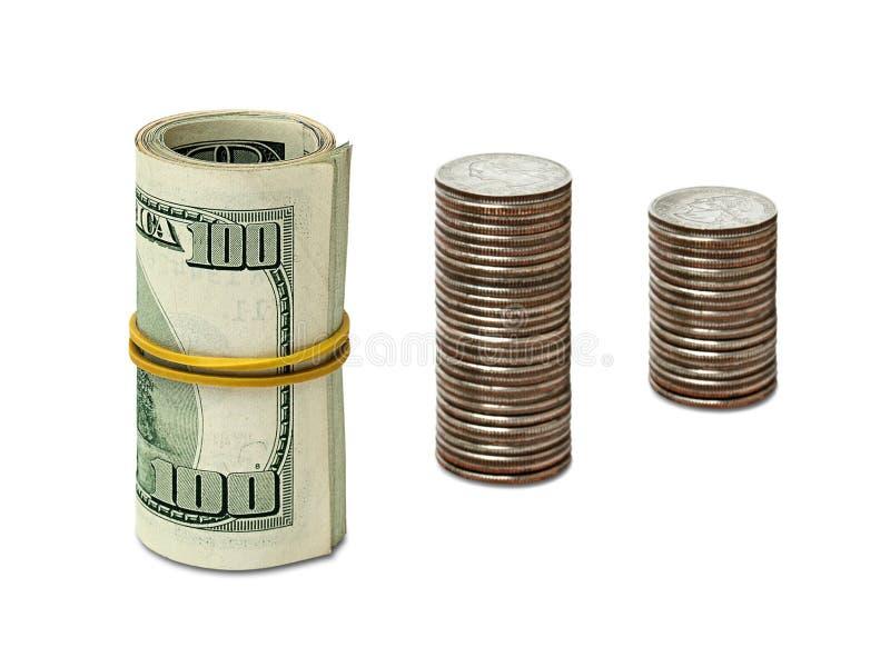 Dollars et cents photos stock
