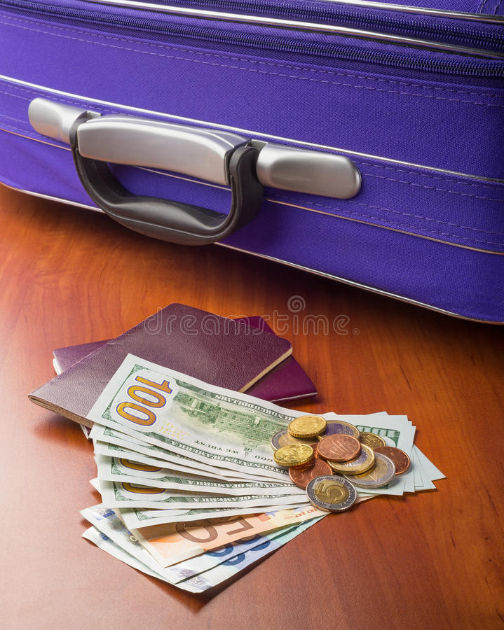 Download Dollars, Euros And Passports Stock Images - Image: 36688324