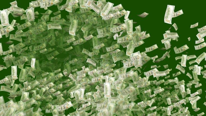 Dollars Exploding like a Celebratory Salute vector illustration