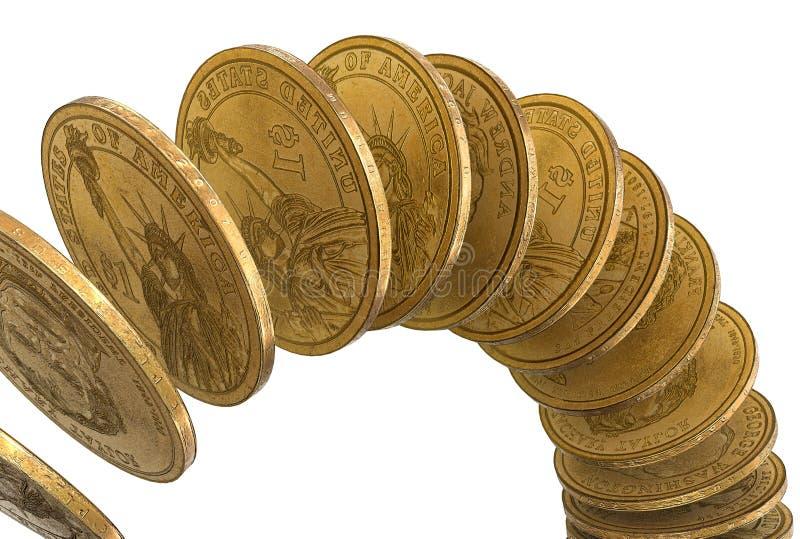 Download Dollars falling stock illustration. Image of growth, money - 24504761