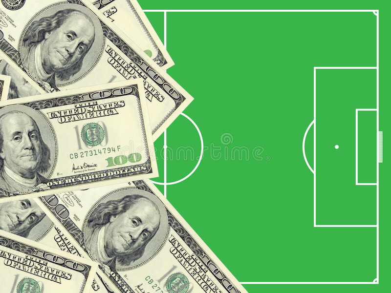 Download Dollars and football field stock photo. Image of sport - 4869750