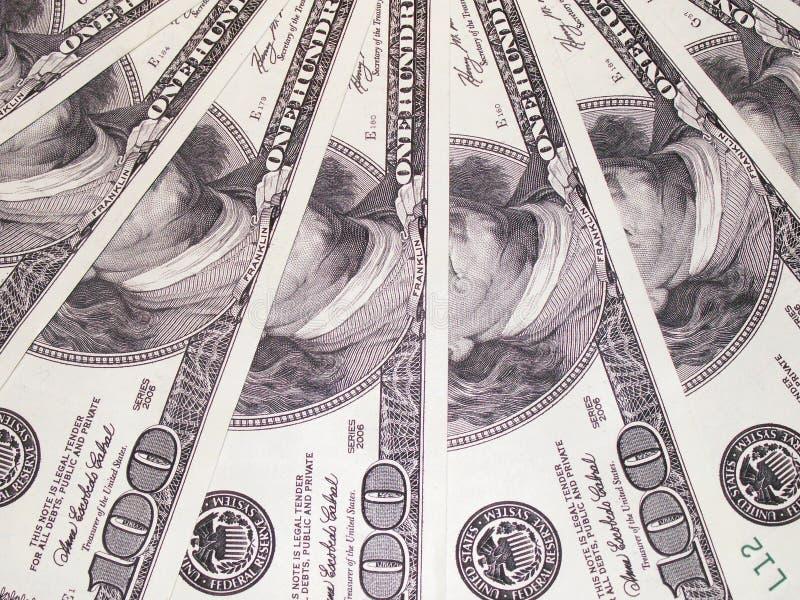 Dollars gewaaide textuur dicht stock afbeeldingen