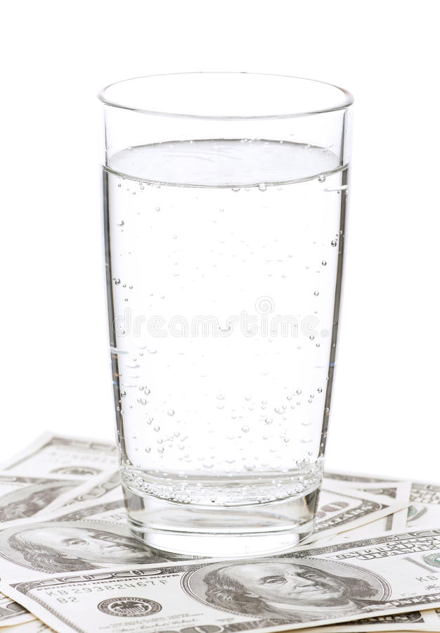 Download Dollars and glass of water stock image. Image of cash - 26035093