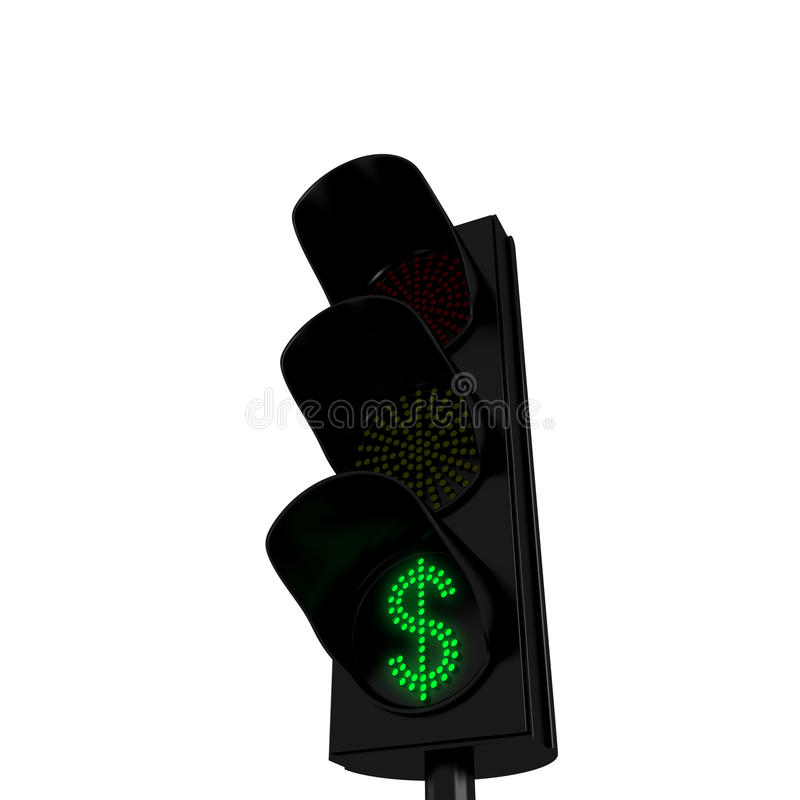 Download Dollars Green Light stock illustration. Illustration of generated - 18613934