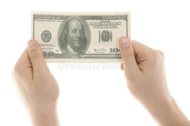 Download 100 Dollars In Hand Stock Photography - Image: 32057042