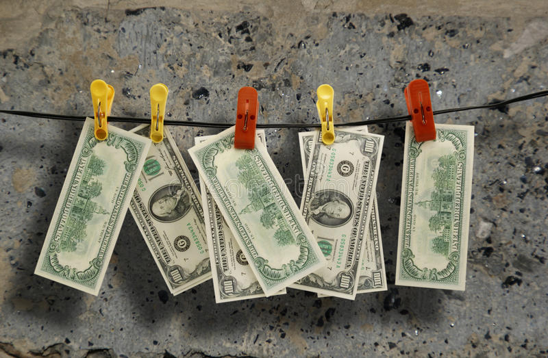 Download Dollars hang on a rope stock photo. Image of cord, fasten - 17004578
