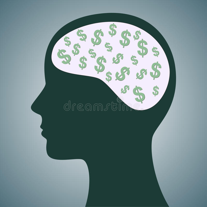 Download Dollars in Head stock photo. Image of benefit, male, loss - 36725398