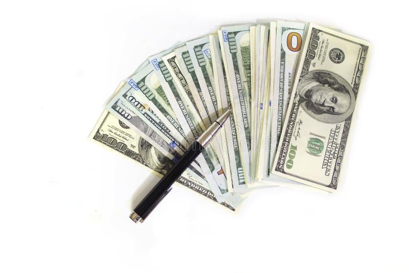 Dollars isolates on white royalty free stock photos