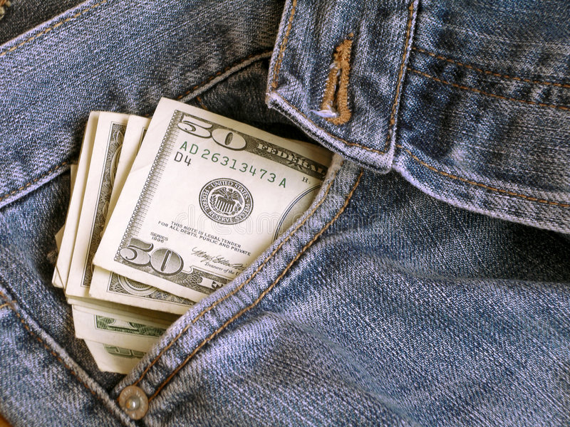 Dollars and Jeans II stock photo