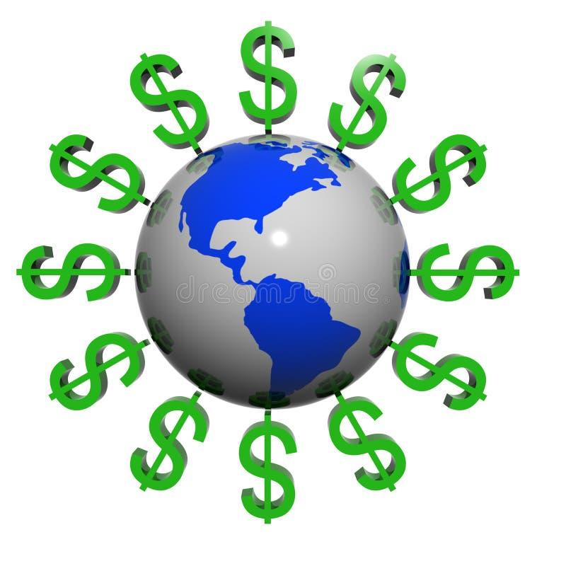 Free Dollars Near The Earth Royalty Free Stock Photo - 7533955