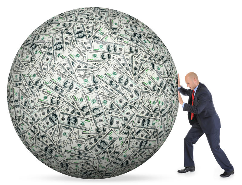 Dollars pile as background royalty free stock photography