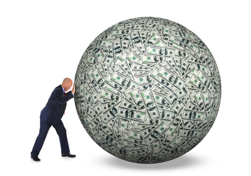 Dollars pile as background royalty free stock image