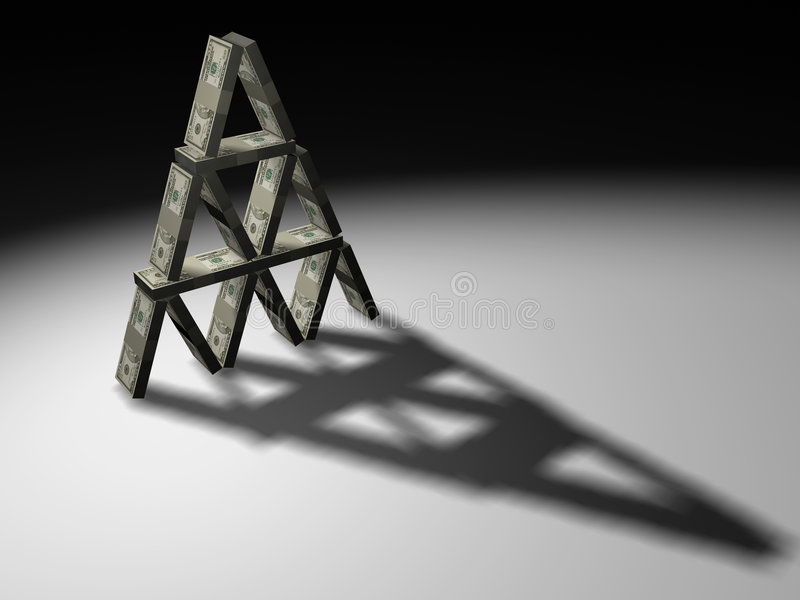 Download Dollars Piramid Royalty Free Stock Photos - Image: 3493128