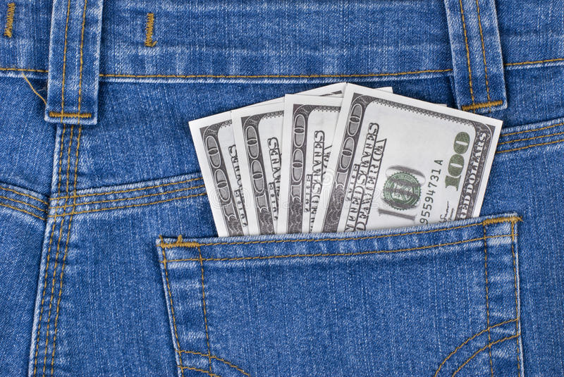 Download Dollars in a pocket stock image. Image of activity, success - 25476623