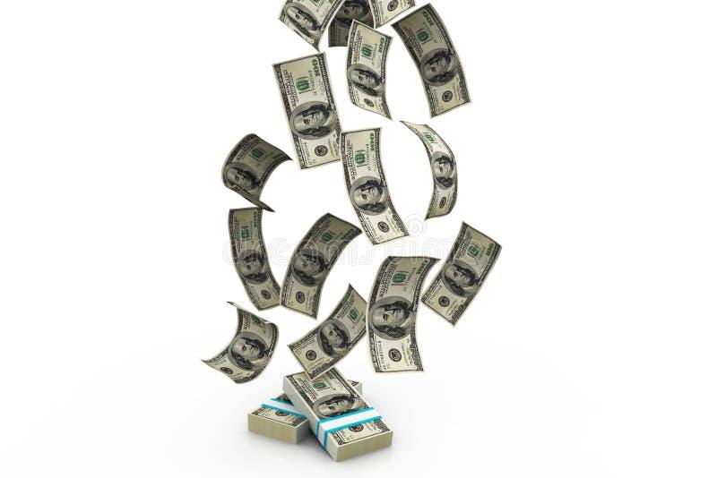 Dollars rain stock illustration