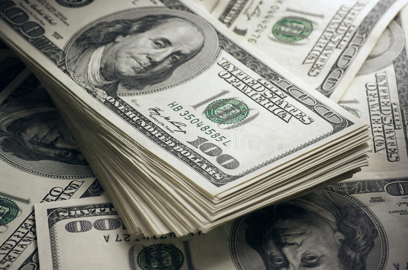 Download Dollars stack close-up stock photo. Image of money, financial - 29344124