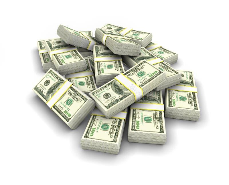 Dollars stack royalty free stock image
