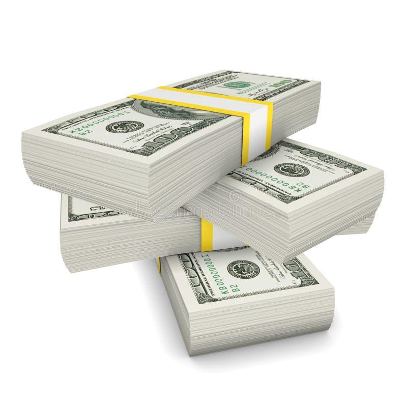 Dollars stack stock illustration