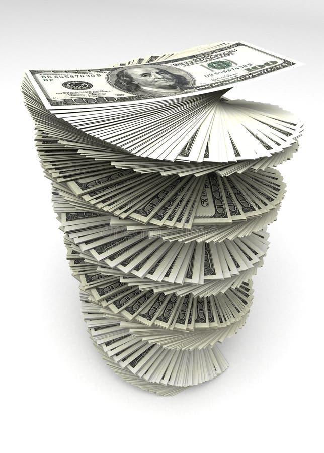 Dollars tourbillonnés illustration stock
