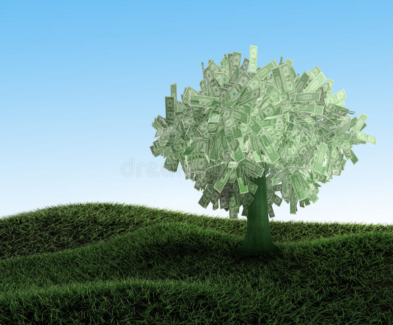 Download Dollars tree stock illustration. Image of ideas, investment - 25210380