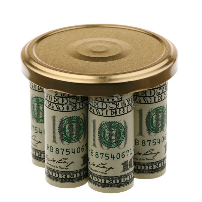 Dollars US Sous un cache photographie stock libre de droits