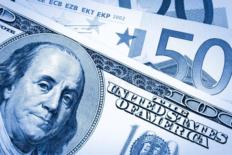 Download Dollars USA And Euro,dual Tone Stock Image - Image: 16589493
