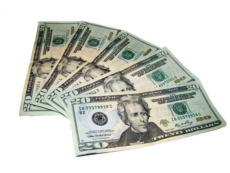 Dollars v1 stock afbeeldingen